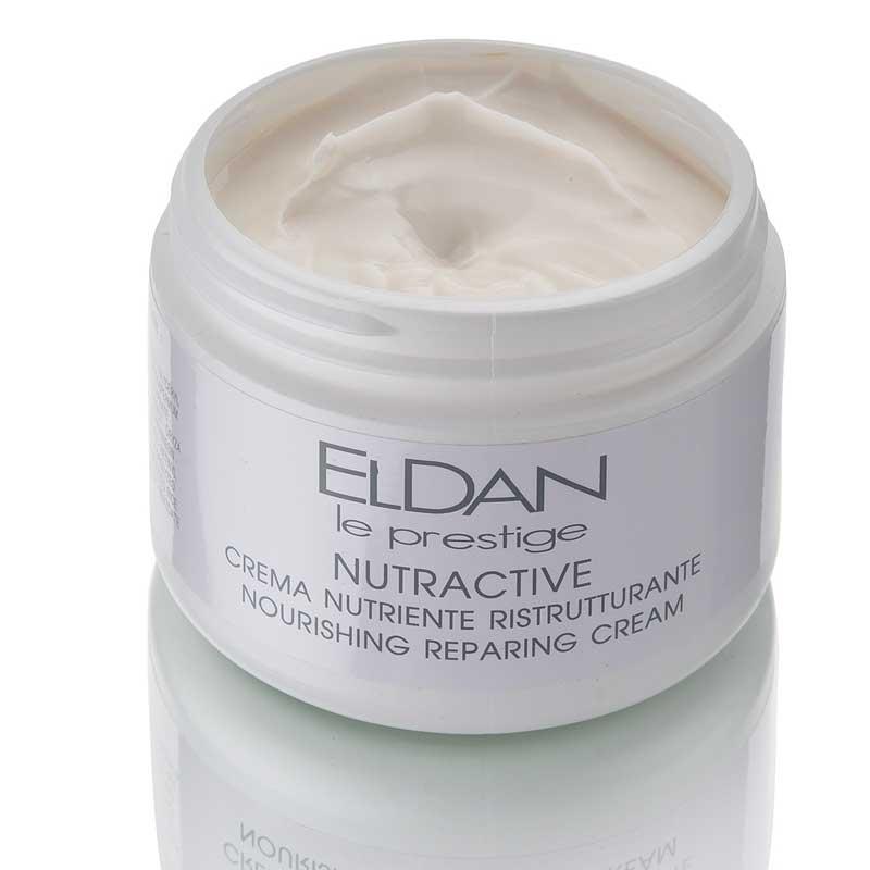 Питательный крем с рисовыми протеинами, Nutriactive nourishing reparing cream Eldan cosmetics, 250 мл